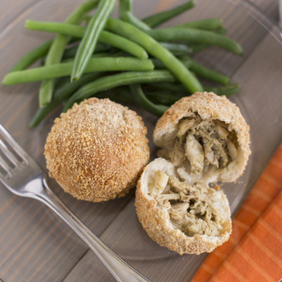 Chicken Filled Stuffing Rolls