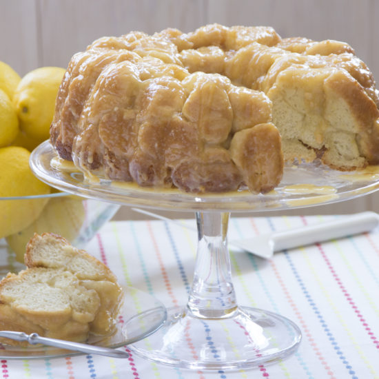 Lemon Cream Cheese Pull Apart