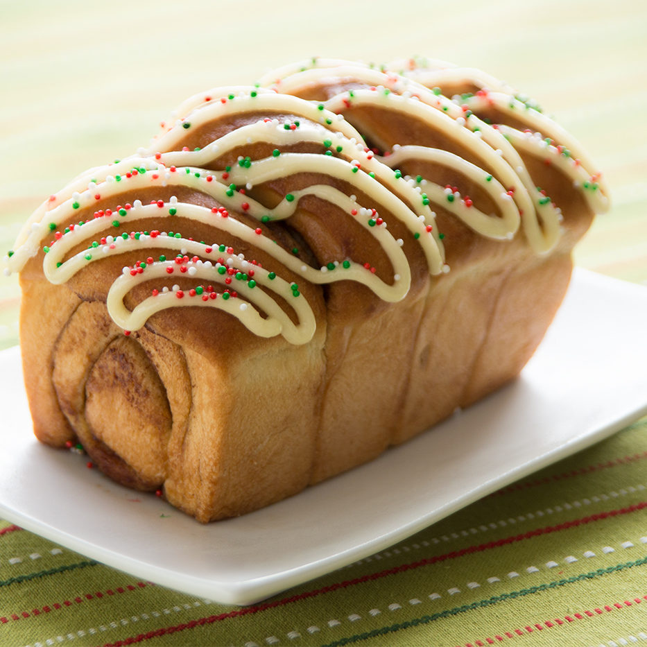 Mini Cinnamon Roll Loaf